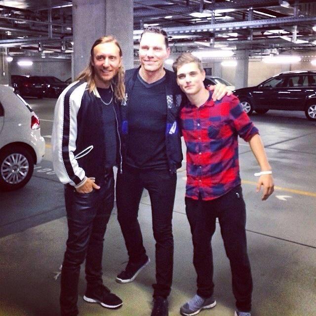 左起:David Guetta, Tiesto, Martin Garrix