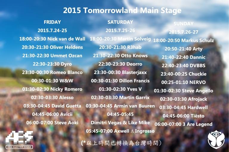 大部份DJ都只有一小時的演出時間