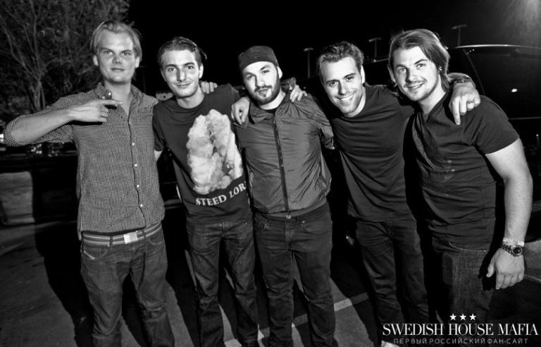 左起: Avicii, Alesso, Steve Angello, Sebastian Ingrosso, Axwell