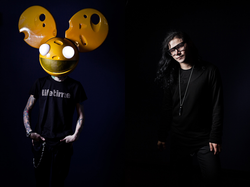 10/6/2011 - New York, New York. Canadian electro DJ deadmau5 (Joel Zimmerman) photographed backstage at Roseland Ballroom in New York. Chad Batka for The New York Times.