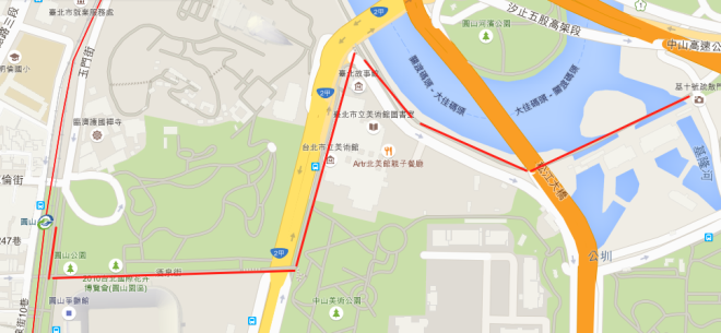 步行 由捷運圓山站出發 大約15分鐘.png