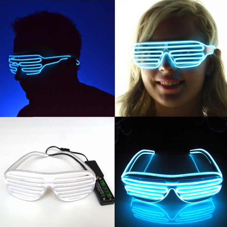 3-Modes-quick-Flashing-EL-Luminous-LED-Shutter-Glasses-Light-Up-Shades-Flashing-font-b-Rave