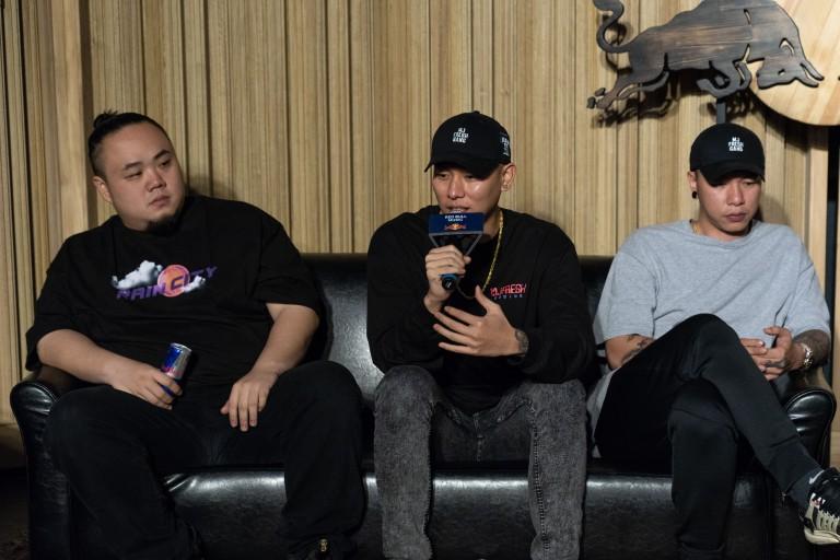 Red Bull嘻哈音樂學院記者會分享 (由左至右)頑童MJ116大淵、瘦子、小春.jpg